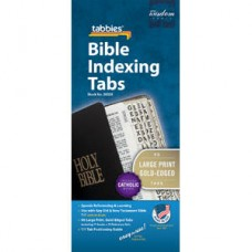 Bible Indexing Tabs Large Print Gold-Edged with Catholic Books