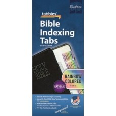 Bible Indexing Tabs Rainbow Coloured with Catholic Books