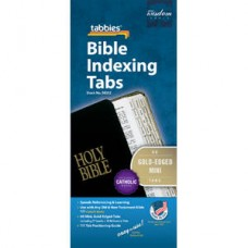 Bible Indexing Tabs Gold-Edged Mini with Catholic Books